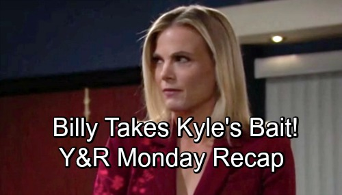 The Young and the Restless Spoilers: Monday, September 17 Update – Billy Takes Kyle's Bait – Nick Rages Over Victor's Dad