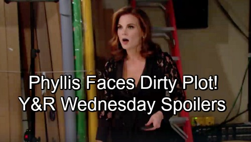 The Young and the Restless Spoilers: Wednesday, November 14 –  Billy and Kyle's Dirty Plot Targets Phyllis – Mia Gives Rey a Shock