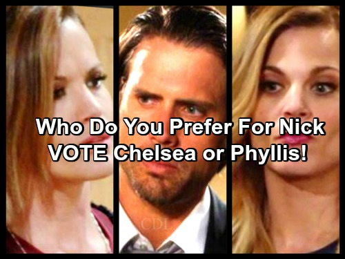 The Young and the Restless Spoilers: Do You Prefer Nick with Chelsea or Phyllis - VOTE In Our Poll!