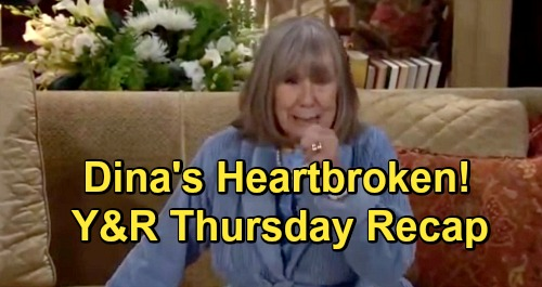The Young and the Restless Spoilers: Thursday, May 23 Recap – Traci and Cane Kiss – Dina's Heartbroken - Adam Betrays Victor