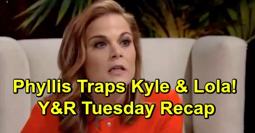 The Young and the Restless Spoilers: Tuesday, April 9 Recap – Phyllis Sets Kyle and Lola Trap – Rey Lies to Paul About Mia Alibi