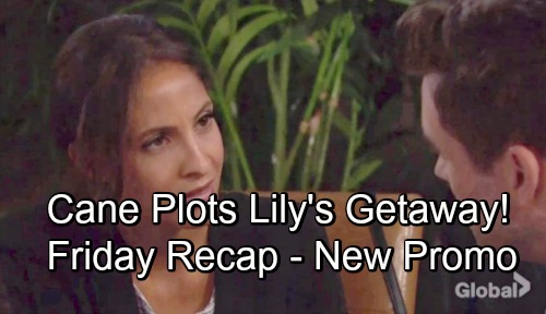 The Young and the Restless Spoilers: Friday, August 10 Update, New Promo – Cane Plots Lily's Getaway – Summer and Kyle's Disgusting Bet