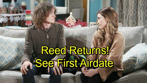 The Young and the Restless Spoilers: Tristan Lake Leabu Returns To Y&R as Reed Hellstrom - First Airdate Announced