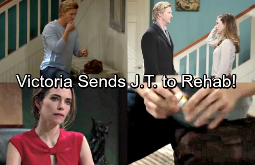 The Young and the Restless Spoilers: Victoria Holds Intervention for Pill-Popping J.T. – Pushed Into Rehab as Y&R Exit