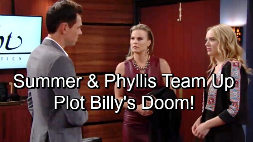 The Young and the Restless Spoilers: Phyllis and Summer Team Up for Revenge – Billy Faces Mother-Daughter Duo's Brutal Plot