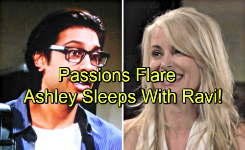 The Young and the Restless Spoilers: Ashley's Passion Breaks Loose - Sleeps With Ravi As Feelings Boil Over?