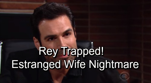 The Young and the Restless Spoilers: Rey's Hero Complex Nightmare – Sharon Love, Estranged Wife and Vicious Nick Add Up to Disaster