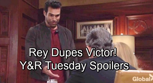 The Young and the Restless Spoilers: Tuesday, August 21 – Rey Dupes Victor – Victoria Handles a Threat – Billy's Willpower Weakens
