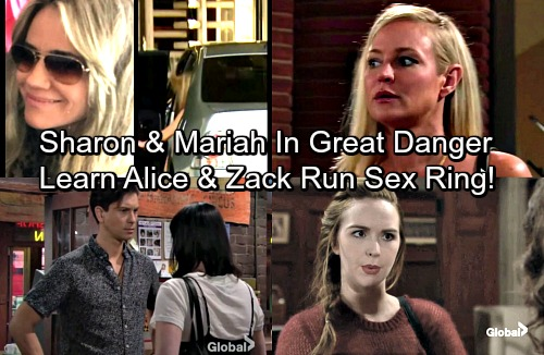 The Young and the Restless Spoilers: Sharon and Mariah Discover Alice Runs Sex Ring With Zack - Alice Targets Mariah