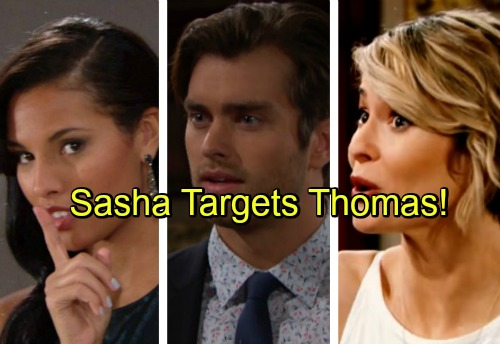 The Bold and the Beautiful Spoilers: Sasha Sets Sights on Thomas, Rocks the Boat with Caroline - Zende Fights for Nicole