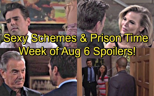 The Young and the Restless Spoilers: Week of August 6 – Sexy Schemes, Prison Time and Vicious Showdowns