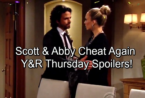 The Young and the Restless Spoilers: Thursday, December 28 - Victor and Nikki's Vow Renewal Ends with a Shock – Scott and Abby Cheat