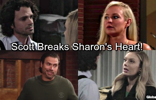 The Young and the Restless Spoilers: Scott Breaks Sharon's Heart, Cheats With Abby - Nick Comforts Crushed Ex