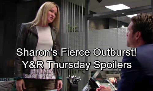 The Young and the Restless Spoilers: Thursday, October 25 – Abby Digs for Dirt – Sharon's Fierce Outburst – Victoria Supports Billy