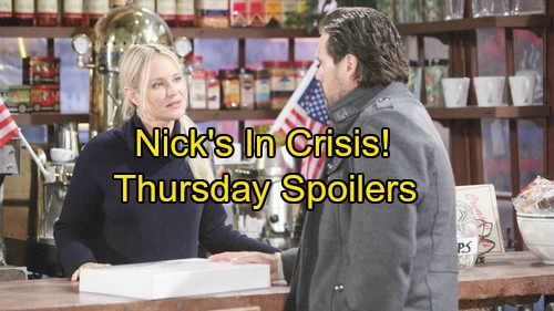The Young and the Restless Spoilers: Thursday, February 8 - Nick In Crisis Gets Sharon's Help –  J.T. Tackles New Challenge