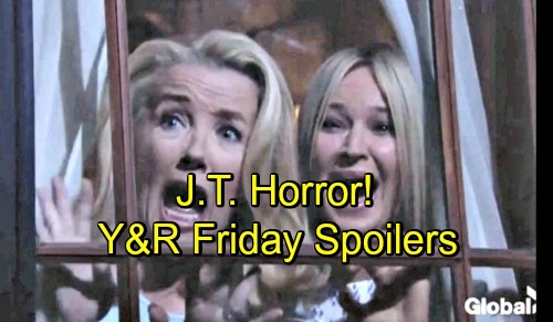 The Young and the Restless Spoilers: Friday, July 6 – J.T. Horrifies Sharon and Nikki – Victor Puts Out a Suspicious Fire
