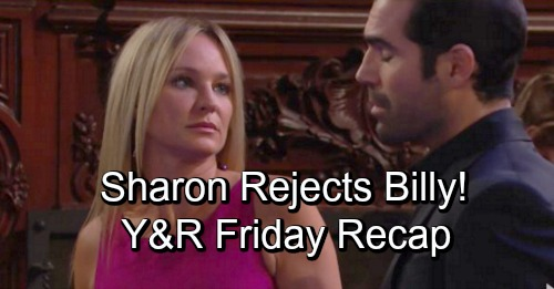 The Young and the Restless Spoilers: Friday, November 16 Recap – Sharon Rejects Billy's Kiss – Nick Asks Phyllis to Move In