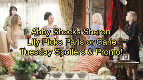 The Young and the Restless Spoilers: Tuesday, January 9 - Abby's Party Shocker – Lily Decides Between Paris and Cane