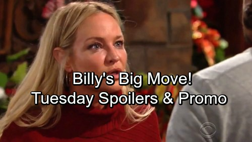 The Young and the Restless Spoilers: Tuesday Spoilers Update - Nick Confronts Abby – Billy's Big Move – Cane Comes Through for J.T.