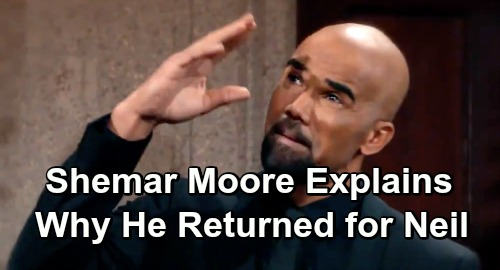 The Young and the Restless Spoilers: Shemar Moore Reveals Story Behind Y&R Comeback – Why He's Helping Fans Say Goodbye to Neil