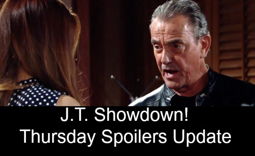 The Young and the Restless Spoilers: Thursday Update, July 12 – Victor Explodes Over Betrayal – J.T. Wants a Showdown