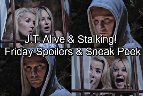 The Young and the Restless Spoilers: Friday, July 6 Update – Sneak Peek Video, J.T.'s Alive - Spooky Comeback Rocks Nikki and Sharon