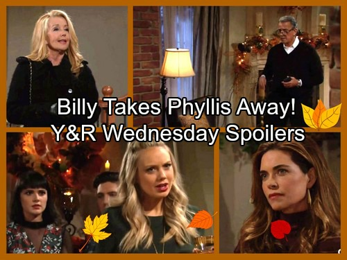 The Young and the Restless Spoilers: Wednesday, November 22 - Victor's Thanksgiving Shock - Billy Takes Phyllis To New Orleans