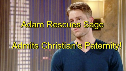 The Young and the Restless (Y&R) Spoilers: Adam Rescues Sage, Admits Christian Paternity – Nick and Chelsea Outraged