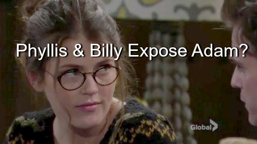 The Young and the Restless (Y&R) Spoilers: Billy and Phyllis Dig for Dirt on Adam – Expose Truth About Christian Paternity?