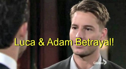 The Young and the Restless (Y&R) Spoilers: Luca Turns On Adam, Decides to Bring Down Victor Himself, Battle Begins