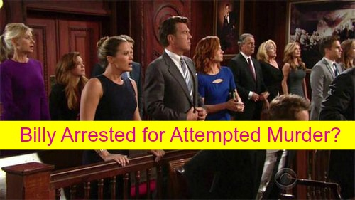 The Young and the Restless (Y&R) Spoilers: Victor Has Billy Arrested and Charged for Shooting Adam, Victoria Freaks?