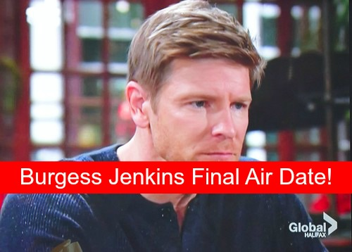 The Young and the Restless (Y&R): Burgess Jenkins Final Air Date Revealed - Billy Hospital Emergency Near Death