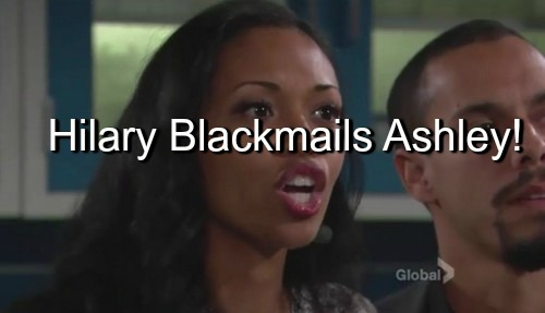 The Young and the Restless (Y&R) Spoilers: Hilary Finds Ashley's Meds, Begins Blackmail Scheme