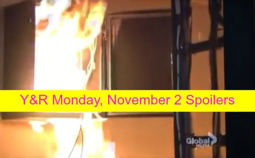 The Young and the Restless (Y&R) Spoilers: Masked Villain Gloats as Flames Spread – Warden Expecting Adam at Prison
