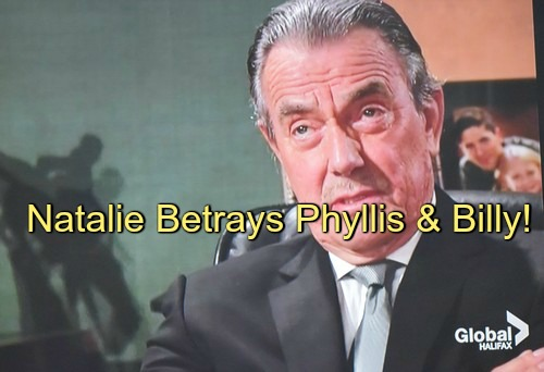 The Young and the Restless (Y&R) Spoilers: Natalie Gives Victor Real Program - Furious Phyllis and Billy Betrayed