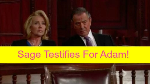 The Young and the Restless (Y&R) Spoilers: Sage's Testimony on Gabriel Bingham Saves Adam Newman - Gets NOT Guilty Verdict?