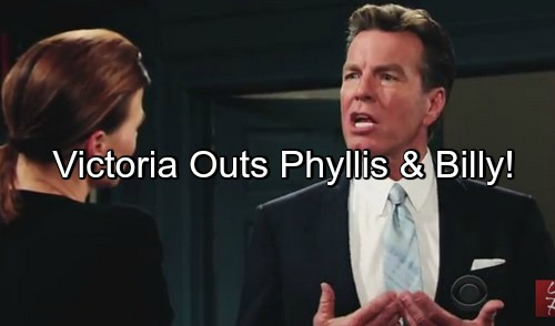 The Young and the Restless (Y&R) Spoilers: Victoria Tells Jack Suspicions About Phyllis and Billy Cheating
