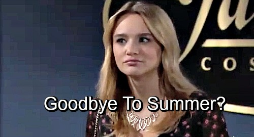 The Young and the Restless Spoilers: Is Hunter King Taking Another Leave From Y&R - Goodbye to Summer?
