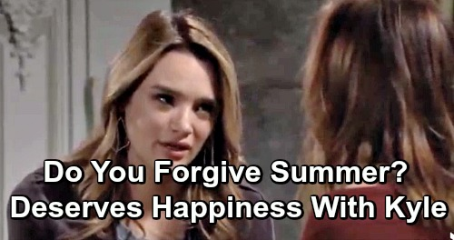 The Young and the Restless Spoilers: Do You Forgive Summer's Mistakes? Y&R Fans Decide If She Deserves Happiness with Kyle