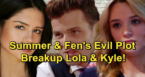 The Young and the Restless Spoilers: Summer and Fen Join Forces - Tear Kyle and Lola Apart for Good