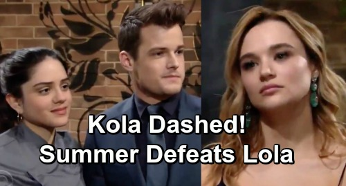 The Young and the Restless Spoilers: Summer Wins, Positive Change Defeats Lola - Kola Dashed, Kyle Remains With Wife