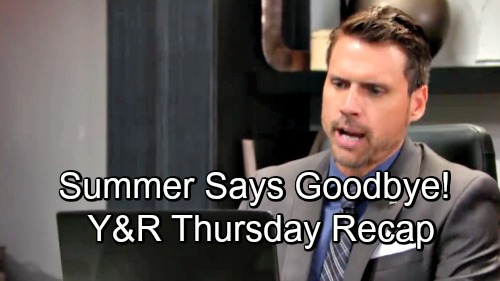 The Young and the Restless Spoilers: Thursday, November 29 Update – Summer's Emotional Goodbye – Lola Needs Promises