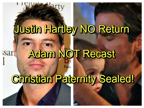 The Young and The Restless Spoilers: Sally Sussman Says No Adam Return, Justin Hartley Gone - No Christian Paternity Reveal