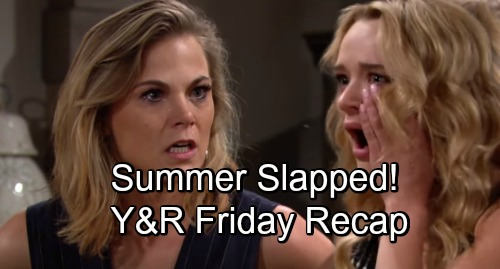The Young and the Restless Spoilers: Friday, August 24 Recap – Victoria Confronted – Rey's Connection to GC – Phyllis Slaps Summer