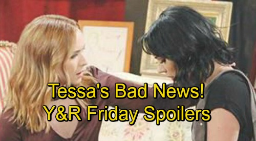 The Young and the Restless Spoilers: Friday, August 31 – Tessa's Disturbing News – Devon Stands His Ground – Cane's Solemn Vow