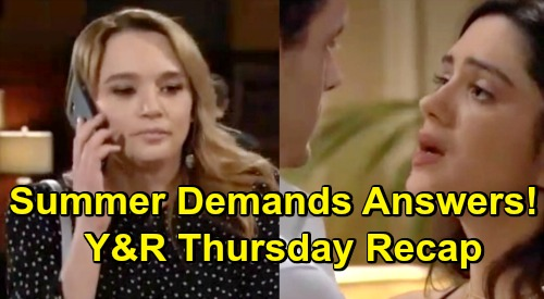 The Young and the Restless Spoilers: Thursday, April 11 Recap – Kyle Removes Wedding Band, But Halts Lola Lovemaking – Summer Wants Answers