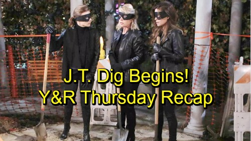The Young and the Restless Spoilers: Thursday, November 1 Recap – J.T. Dig Begins – Sharon Rejects Nick – Jill Interferes