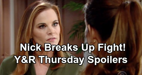 The Young and the Restless Spoilers: Thursday, January 10 – Mac Shocks Reed – J.T.'s Memorial Service Begins – Nick Plays Peacemaker
