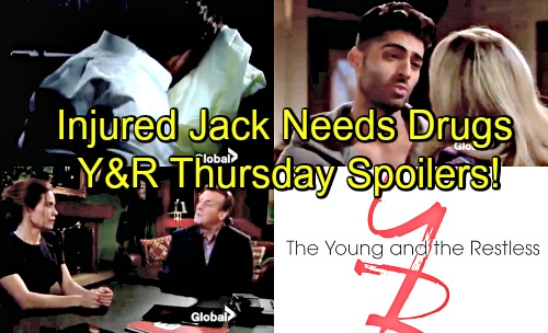 The Young and the Restless Spoilers: Thursday, May 17 Update – Victoria Claims She Helped J.T. Skip Town – Injured Jack Wants Pills