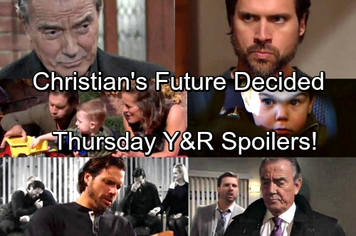 The Young and the Restless Spoilers: Thursday, March 1 – Victor and Nick Decide Christian's Future – Lily Advises Desperate J.T.